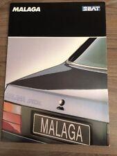 SEAT MALAGA 1989 RANGE CAR BROCHURE. 4 DOOR SALOON 1.2 SPECIAL SYSTEM PORSCHE