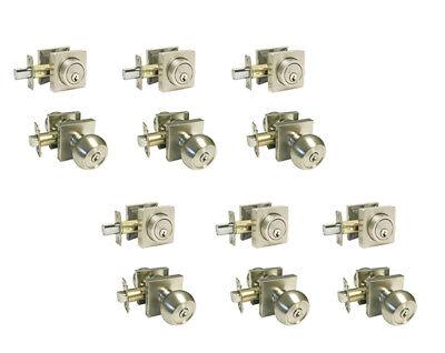 Multiple Sets of Entry Door Handicap Satin Nickel All Keyed Alike 1//2//3//4 sets