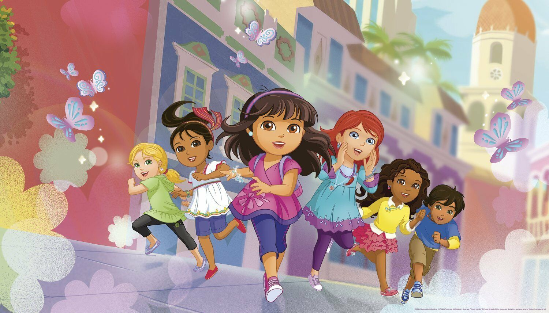 Dora the Explorer mural grandi Dora encollé papier peint Kids Room Decor