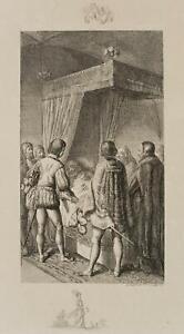 Chodowiecki (1726-1801). otto della presenziano sul morire Bette; pressione grafico