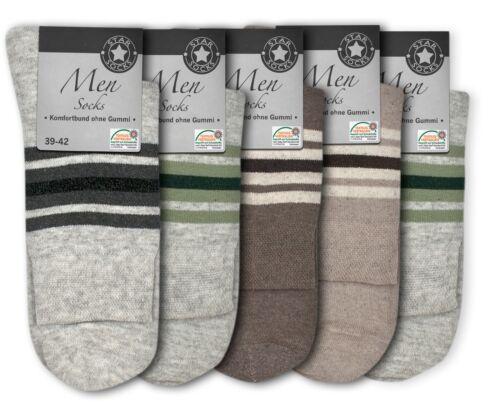 5-20 Paar Herren Socken Kurzsocken Komfortbund ohne Gummi Baumwolle helle Farben