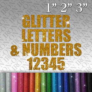 image is loading custom glitter letters amp numbers iron on fabric