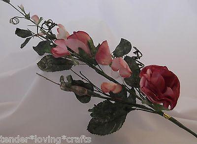 """29"""" PARCHMENT ROSE SPRAY  MAUVE ~HOME DECOR,WEDDING,CRAFTS"""
