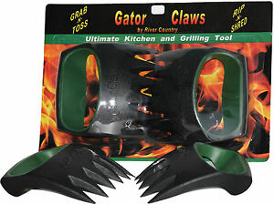 GATOR-CLAWS-PAWS-BBQ-MEAT-LIFT-PULL-SHREDDER-HANDLERS-SALAD-KITCHEN-FORKS-TONGS