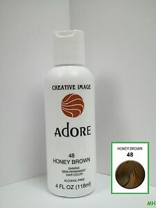 Creative Image Adore Semi Permanent Hair Color 48 Honey Brown 4oz