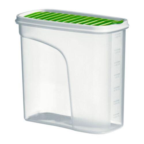 Grub Tub Kitchen Food Storage Container Jar Polypropylene Green /& White Lid