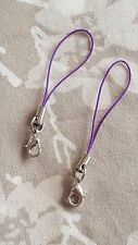 PURPLE Keys Charms USB Lanyard Camera Strap Phone Cell Holder Card Mobile MP3 x2