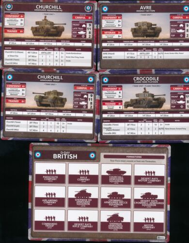 Flames of War Churchill Armoured Troop Singles