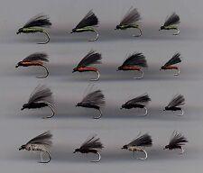 Trout Flies: CDC F/Flies x16 sizes 10,12,14 &16 (code 283)