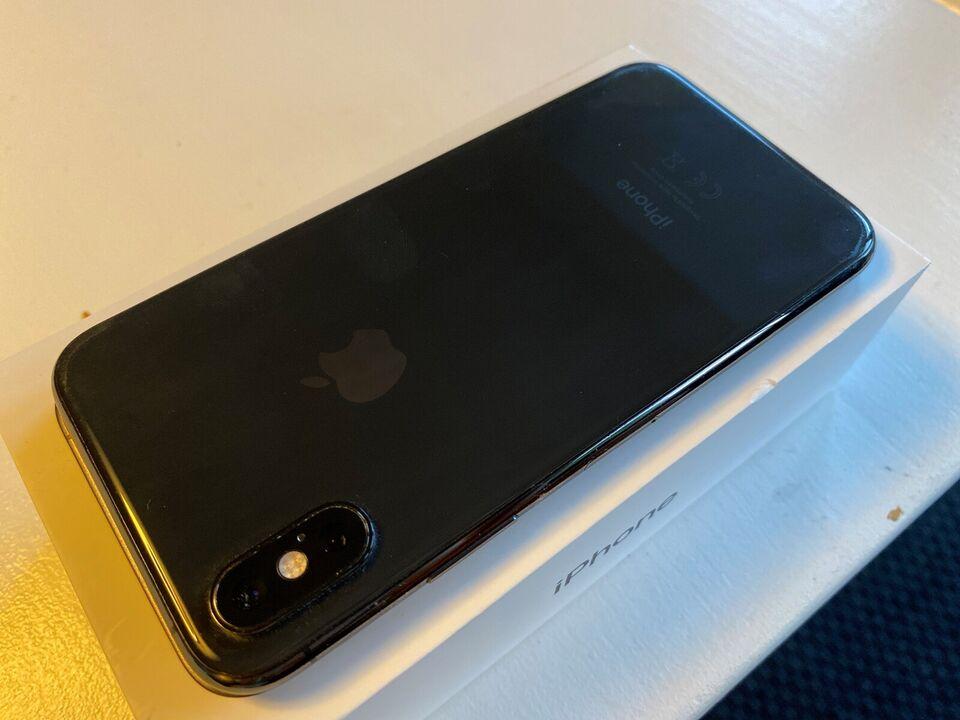 iPhone XS, 256 GB, sort