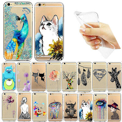 """New Fashion Soft Gel Silicone Thin Transparent Case Cover For iPhone5S 5C 6 4.7"""""""