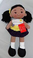 Linzy Aissa Handmade Fabric Rag Doll with Yellow Dress 16 Inch Tall