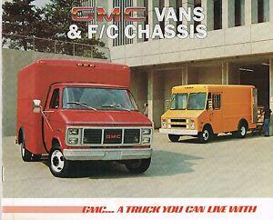 1985 Glc Van & F/c Châssis Brochure: Magnavan Vandura Valeur P6 E34 E31 E36 Setelkuf-08002938-189855174