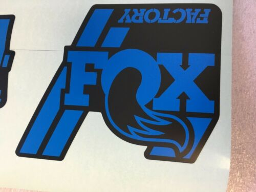 FOX Factory Series Fork 34 Blue Left /& Right Decals Set 34mm Stickers 2019