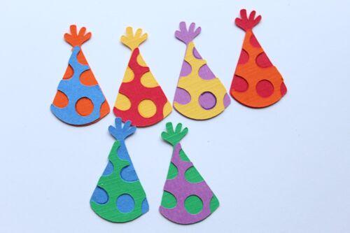BIRTHDAY Party Hat Paper Piecing Scrapbook Border Scrapbooking album Lot Hats