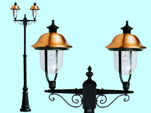 LAMPIONI VERONA - APOLLO 2LUCI SU PALO LANTERNE ILLUMINAZIONE GIARDINO H MAX 252