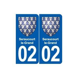 02 Seraucourt-le-grand Blason Ville Autocollant Plaque Sticker - Angles : Arron Apparence éLéGante