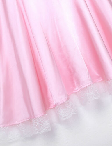 Crossdress Mens French Maid Uniform Santin Dress Pajamas Role Play Party Costume