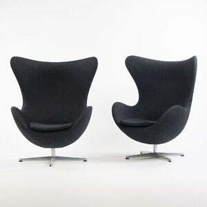 2013 Egg Chair By Arne Jacobsen For Fritz Hansen Original Fabric Denmark Gray Ebay