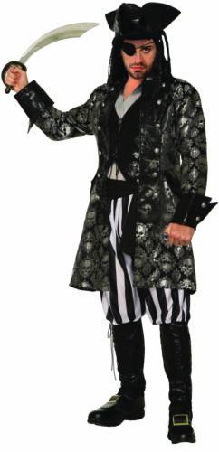 Captain Sterling Black Skull Adult Men/'s Halloween Costume Buccaneer Pirate STD