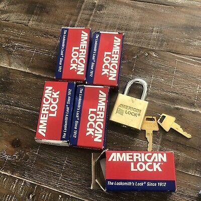 American Lock AL50KA Solid Brass Locks Keyed Alike Each Lock has 2 Keys NEW! 6