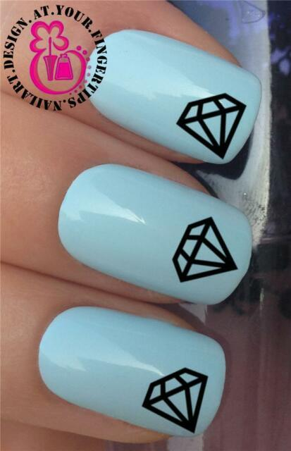WATER TRANSFERS DIAMOND STONES NAIL BLING ROCKS WATER DECALS STICKERS *303