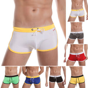 Swim-Shorts-Swimwear-Swimming-Trunks-Charm-Underwear-Boxer-Briefs-Pants-Mens