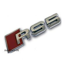 RS5 Badge Emblem Decal Sticker Logo A5 S5 RS S Audi boot lid rear trunk tailgate