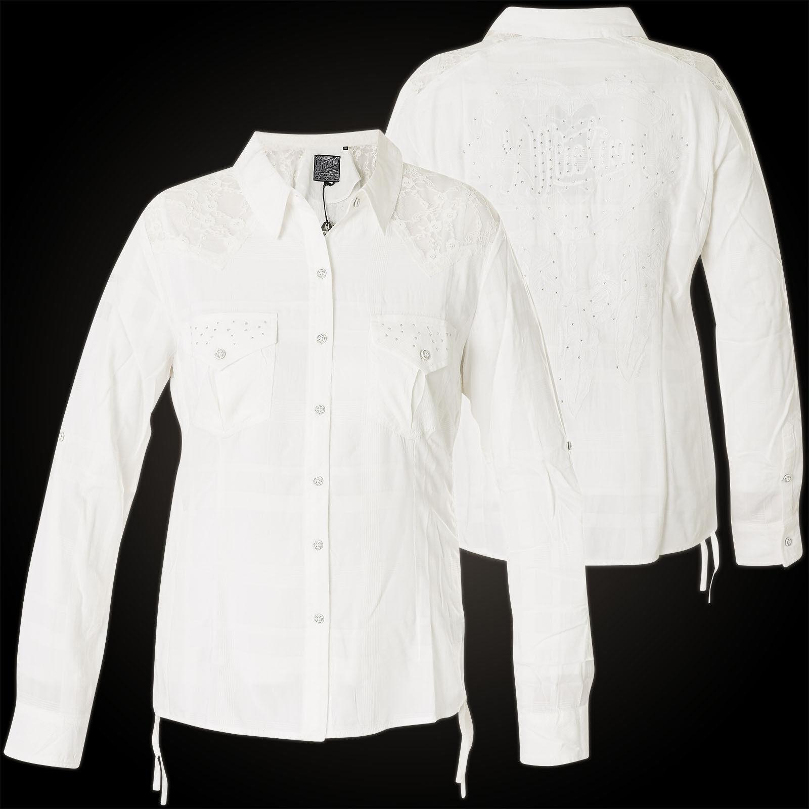 AFFLICTION Damen Hemd Endless Roads Weiß