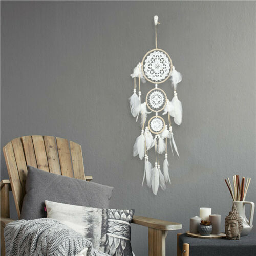 Handmade Lace Dream Catcher With Feathers Car Wall Hanging Decor Ornaments Gifts
