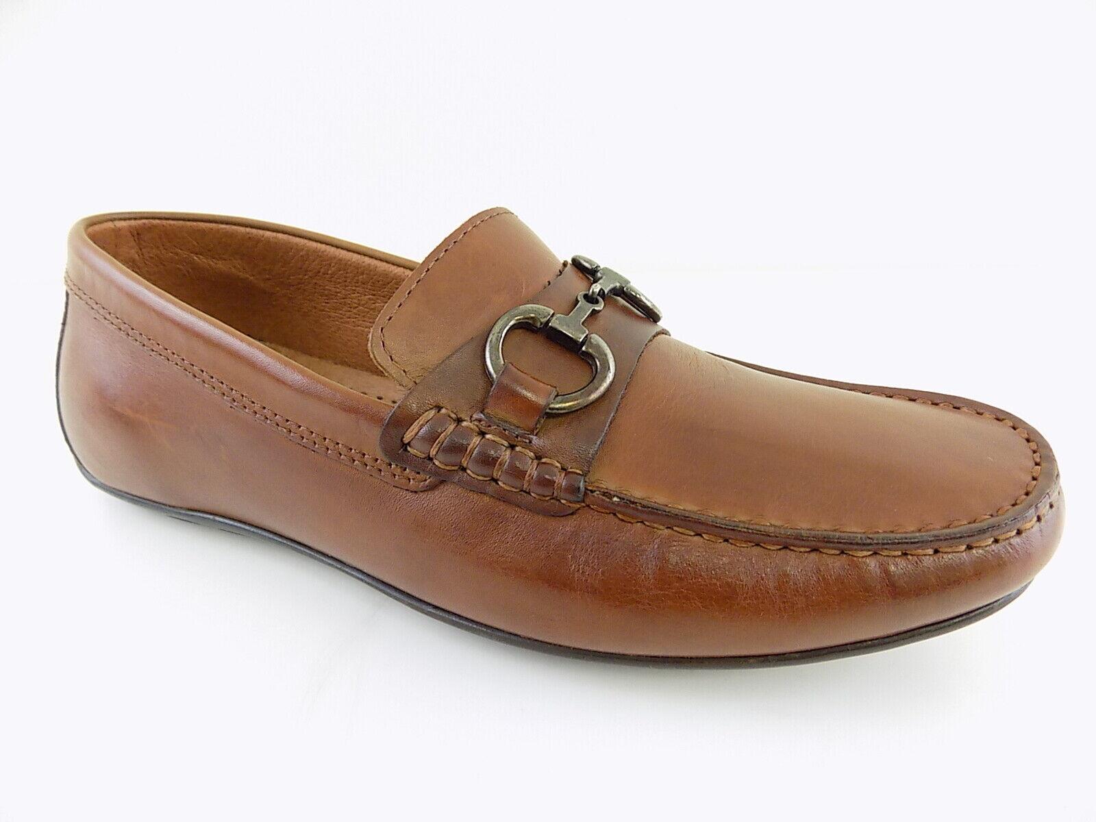 TASSO ELBA   ALONZO Brown MEN Size 7.5M Loafers & Slip Ons TAN shoes D12