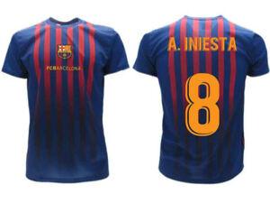 La imagen se está cargando Camiseta-Iniesta-2019-Barcelona-Producto-Oficial- Barcelona-2018- b6f802642dea4