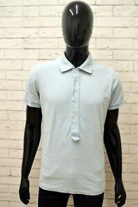 Polo-REPLAY-Uomo-Taglia-Size-M-Maglia-Camicia-Shirt-Man-Cotone-Blu-Manica-Corta