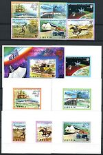 257/SPACE RAUMFAHRT 1974 Liberia UPU 907-12B + Bl.70B + Deluxe Blocks (6) ** MNH