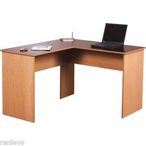 Image Is Loading Computer Desk WorkStation L Shape Corner Desk Home