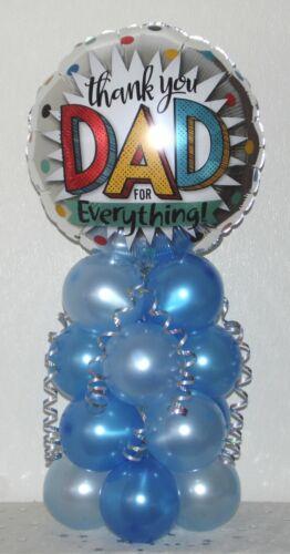 NO HELIUM NEEDED BIRTHDAY BALLOON TABLE DECORATION DISPLAY DAD