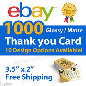 1000 ebay seller professional thank you business cards free shipping image is loading 1000 ebay seller professional thank you business cards reheart Image collections