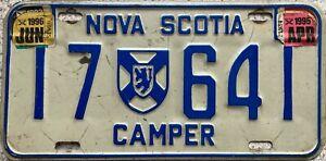 GENUINE-Canada-Nova-Scotia-CAMPER-License-Licence-Number-Plate-17-641
