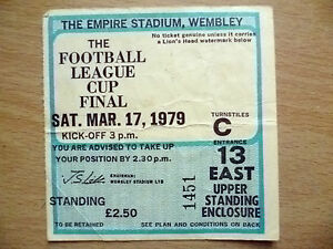 Ticket 1979 League Cup Final NOTTINGHAM FOREST v SOUTHAMPTON 17 March - <span itemprop=availableAtOrFrom>ilford, Essex, United Kingdom</span> - Returns accepted Most purchases from business sellers are protected by the Consumer Contract Regulations 2013 which give you the right to cancel the purchase within 14 days after th - ilford, Essex, United Kingdom