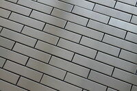 Stainless Steel 1 X 4 Mosaic Tiles For A Kitchen Backsplash Or Accent Wall