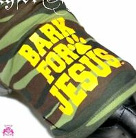 Beauty For Ashes® Bark For Jesus Camoflauge Army Dog For Christ Tank Shirt Puppy