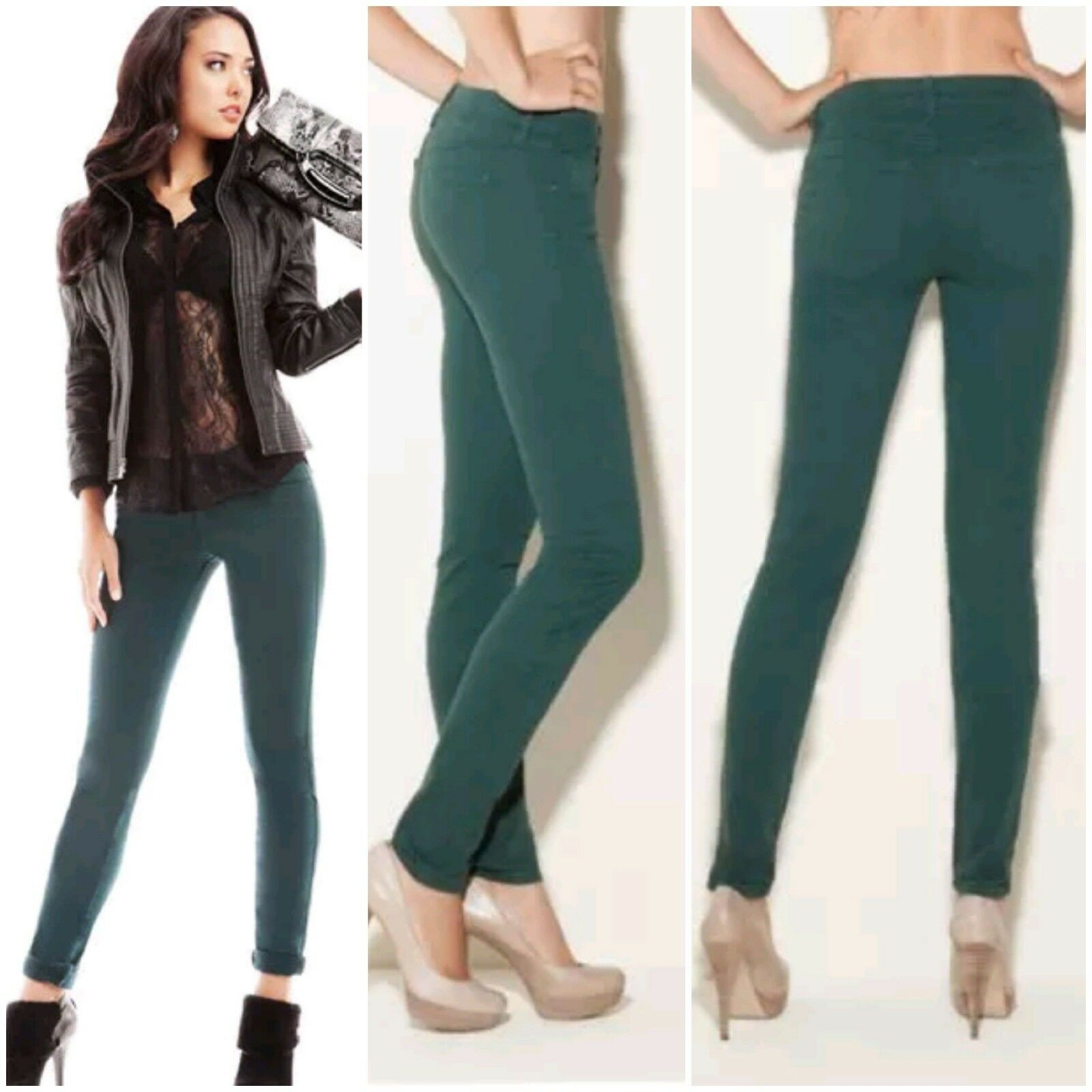 NWT Guess Brittney Skinny green colord Jeans pants size 24
