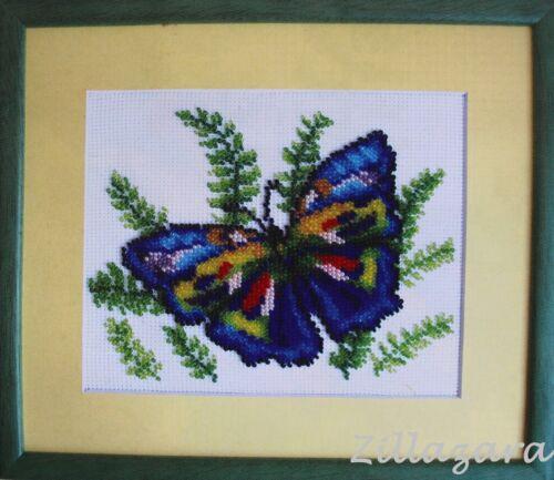 Kinder Motiv Schmetterling Stickpackung Stickbild sticken Perlen 426