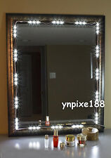 10FT Dressing Mirror Lighted Cosmetic Makeup Vanity LED light+remote+power plug