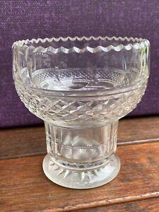Mid Victorian Antique Cut Glass Table Vase Ebay