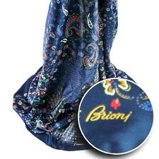 New BRIONI Navy Oriental Red Green Silk Scarf Shawl Wrap Headscarf MSRP $795