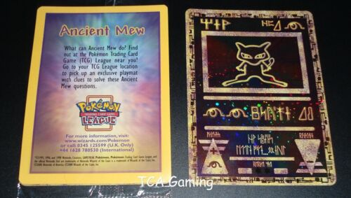 Pokemon ANCIENT MEW Movie DOUBLE HOLO Black Star Promo SEALED Card