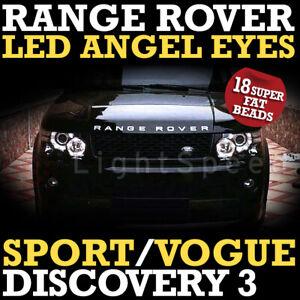 RANGE ROVER SPORT LED 4 BEADS DRL ANGEL EYES ANGELEYES SUPER BRIGHT VOGUE 120mm