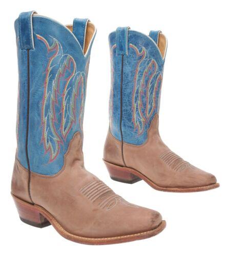 NOCONA Cowboy Boots 8.5 B Womens Square Toe Blue L