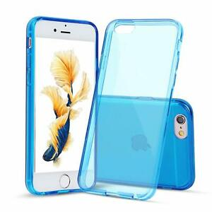Apple-iPhone-6s-6-case-Bumper-Silicone-Case-Cover-Protective-Clear-DARK-BLUE